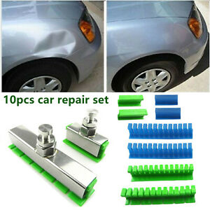 10pcs Car Paintless Dent Repair Tool Puller Lifter Tabs Damage Removal Pdr Kit