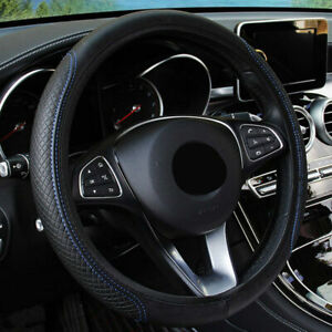 Black Blue Car Steering Wheel Cover For Honda Odyssey Pilot Accord Civic Jeep Us