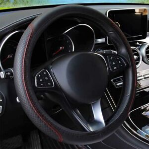 Black red Car Steering Wheel Cover Fit For Honda Odyssey Pilot Accord Civic Jeep