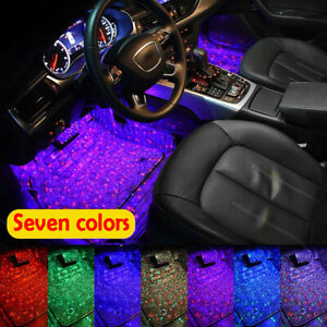 Under Dash Foot Floor Seat Accent Light Rgb Color Led Glow Interior Usb Car Kit