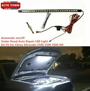 Automatic On off under Hood Repair Led Light Kit Fit Chevy Silverado 1500 2500