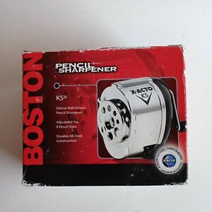 New In Box Boston Deluxe Wall Mount Pencil Sharpener Model No 1031 X acto Ks
