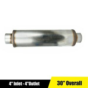 4 Inch Inlet outlet Stainless Steel Performance Diesel Muffler 24 Body Length