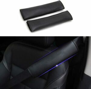 Universal Car Seat Belt Pads Cover For Dodge For Adults And Children Black 2 Pcs