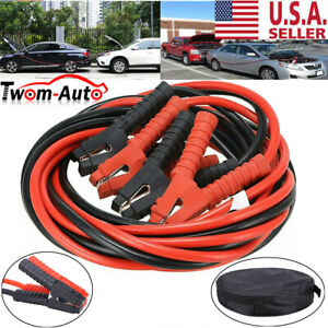 Heavy Duty Power Jumper Booster Cables Commercial Grade Battery 2 Gauge 600 Amp