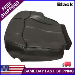 Driver Bottom Leather Seat Cover For 1999 2000 2001 2002 Chevy Silverado Fits Tahoe