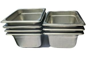 lot Of 7 Steam Table Pan Sixth Size 4