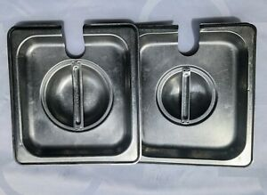 lot Of 2 Lids For Steam Table Pan Sixth Size Slotted