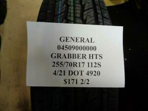 2 New General Grabber Hts 255 70 17 112s Tires 04509000000 Q1
