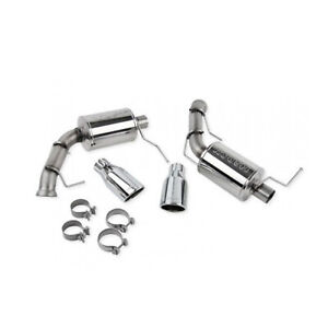 Roush 421145 Axle Back Exhaust Muffler With Round Tips For 11 14 Ford Mustang V6