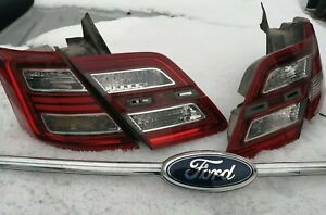 Update 10 13 14 15 16 17 18 Oem Ford Taurus Tail Lamps Taillights Set 2010 2018