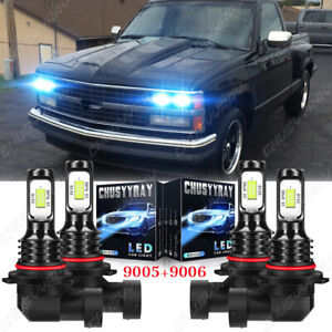 For Chevy C1500 1988 1999 4x 9005 9006 8000k Led Headlight Bulbs High Low Beam