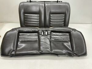 1999 2004 Oem Ford Mustang Coupe Gt Leather Rear Seats Back Seat Charcoal t564