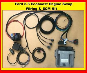 Ford Mustang 2 3 Ecoboost Engine Swap Wiring Harness And Ecm Kit Convert Loom