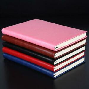 A5 Business Leather Notebook Journal Agenda Lined Paper Diary Planner Notepad