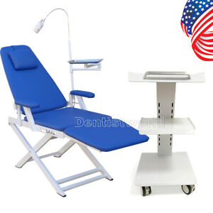Us Dental Built in Socket Medical Mobile Cart Trolley Tool portable Led Chair