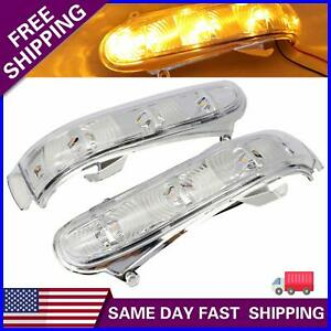 1 Pair For Mercedes Benz W220 W215 S Cl Led Side Mirror Turn Signal Light Amber