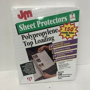 Usa Made Jm Top Loading Sheet Protectors 8 5x11 150 pkg Clear Archival 3 Hole