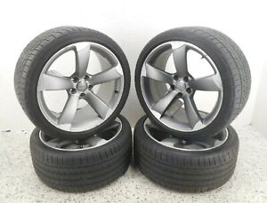 15 Audi S5 19x9 Wheel Rim 5 Solid Spoke Full Set Of 4 Oem