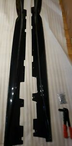 New For 16 up Camaro Rs Ss T6 Style Abs Plastic Side Skirts Rocker Gloss Black