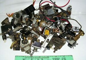 Lot Vintage Switches Misc mostly Toggle push button slide bakelite used new