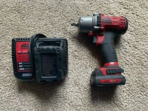 Mac Tools 3 8 Drive 12v Cordless Power Impact Wrench Driver 2 Batteries Charger
