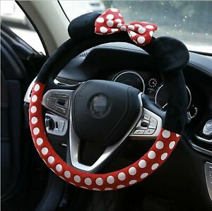 15 Non Slip Hello Kitty Red Car Steering Wheel Cover Universal Fit Lovely