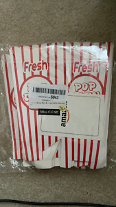 75 Oz Popcorn Box Serving Containers 6 Tall 20 Pcs