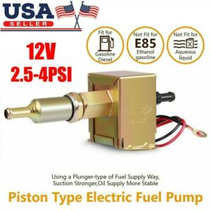 12v Electric Fuel Pump Low Pressure 2 5 4 Psi Petrol Gas Diesel Parts Universal