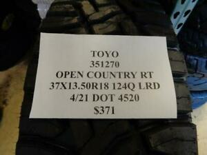 1 New Toyo Open Country Rt 37 13 5 18 124q Lrd Tire 351270 Q1