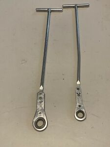 Snap On 2 Pc T Handle Ratcheting Box Wrench Set 13mm And 15mm Rtbm15 Rtbm13