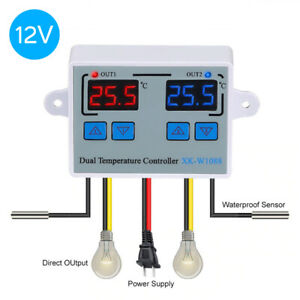 Dual Digital Control Temperature Thermostat Switch For Incubator Heating Cooling