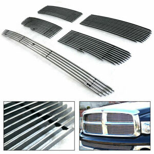 For Dodge Ram 1500 2500 2002 2005 Main And Bumper Grille Kit 5 pc Polished