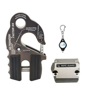 Factor 55 Ultrahook Winch Hook Integrated Shackle Pin Mount Plus Rope Guard