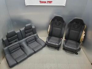 2011 2012 Mustang Gt500 Recaro Seats Set Front Rear Bags Blown