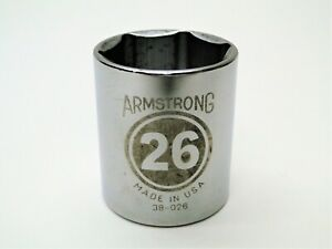 Armstrong 26mm Socket 3 8 Drive 38 026