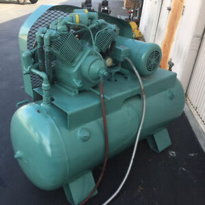 Industrial Electric Air Compressor 10 Hp 3 phase 220 440v 120 Gal Horizontal