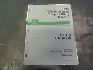 John Deere 655 755 756 855 856 Utility Tractors Parts Catalog Manual Pc2054