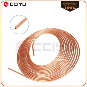 Copper Nickel Brake Line Tubing Kit 3 16 Od 25 Foot Coil Roll All Size Fitting