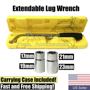 Extendable Lug Wrench 17mm 19mm 21mm 23mm Telescopic Auto Tire Lug Nut Tool