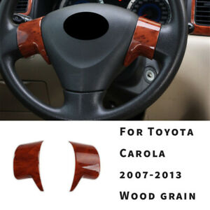 Steering Wheel Button Cover Trim For Toyota Corolla Gl 2007 08 2013 Wood Grain