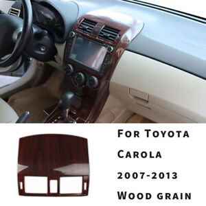 Central Console Air Outlet Vent Trim For Toyota Corolla 2007 2013 Red Wood Grain