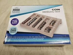Nadex Coin Handling Tray Sorter 6 Departments Includes Cover For Handling