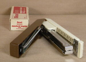 Boston Stapler Model 55 Product Of Taiwan Vintage W staples Brown And Tan