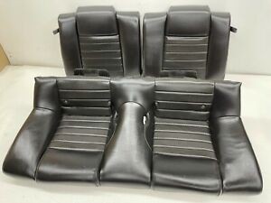 2005 2009 Oem Ford Mustang Coupe Gt Rear Black Leather Back Seats t720