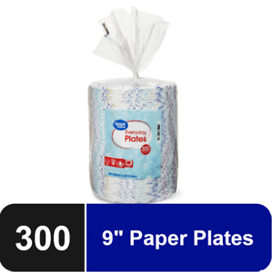 Great Value Everyday Paper Plates 8 5 8 300 Count