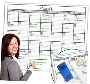 Dry Erase Monthly Large White Board Wall Calendar 38 X 50 38inch 50inch