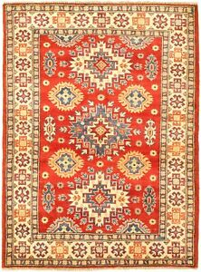 Vintage Hand Knotted Carpet 3 5 X 5 0 Traditional Oriental Wool Area Rug