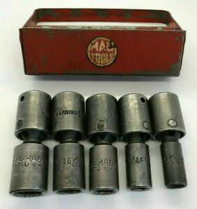 Vtg Mac Tools 3 8 Drive Deep Impact Sae Socket Set Universal Swivel Lot 6pt Xup