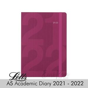 Letts Mid Year Academic Diary A5 Day Per Page Diary Appointments 2021 2022 Pink